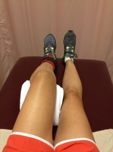 PT on left leg. Leg lifts with ankle weight. July 2013 (3 months post surgery)